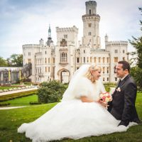 Wedding photo from Hluboká Castle, Czech Republic