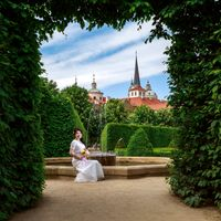 Wedding photo from Wallenstein Garden, Prague, Czech Republic