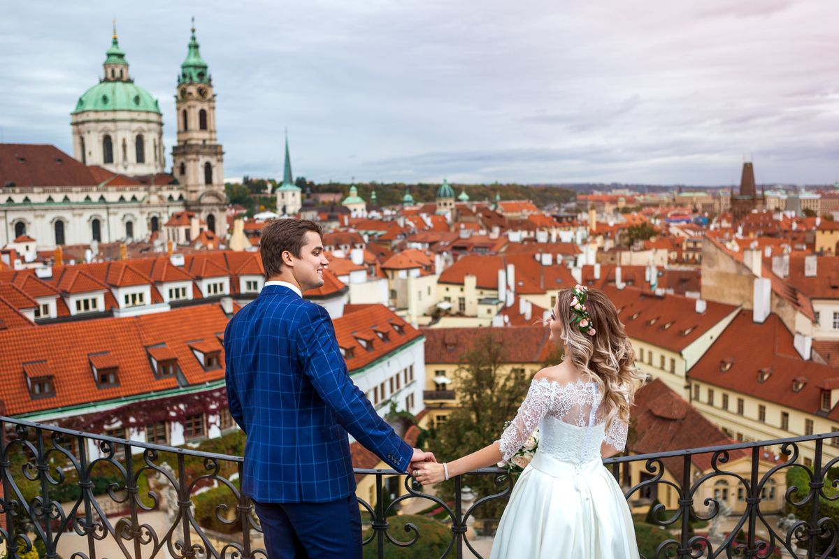 Wedding photo from Prague Castle